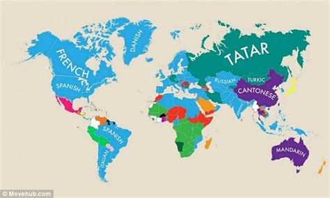 usa second language map world map reveals each country s second language daily