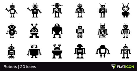 Home Design Unlimited robots 20 free icons svg eps psd png files