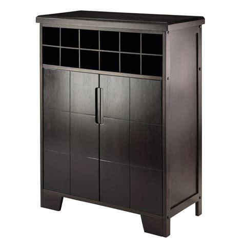 Espresso Bar Cabinet Winsome Wood Espresso Bar Cabinet 92632 The Home Depot
