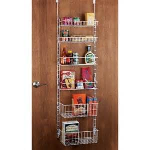 back of door storage rack organization