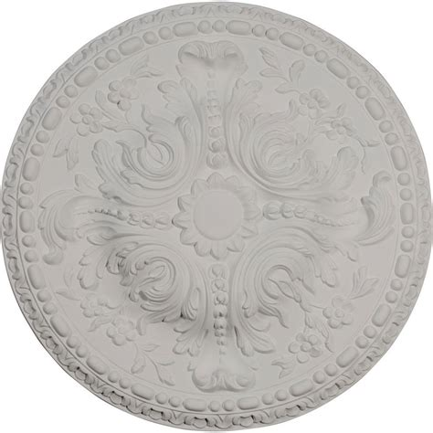 ekena millwork 23 3 4 in classic square ceiling medallion