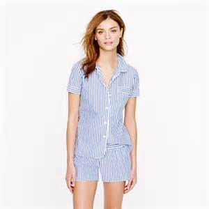 vintage short pajama set in stripe sets j crew
