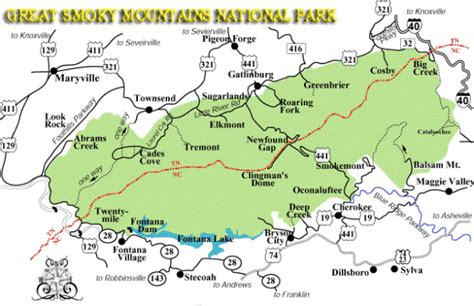 great smoky mountains national park map great smoky mountains national park trail maps