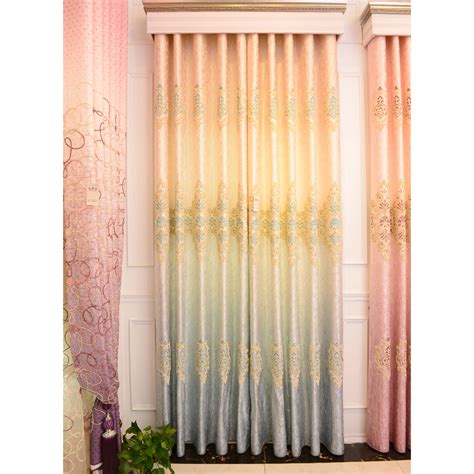 Ombre Window Curtains Ombre Window Curtains Threshold Blue Ombre Stripe Window Curtain Panel 84 Quot Target Teal New