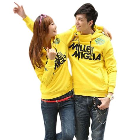 Korean Style Dress Yellow by Korean Style Couples Dress Thermal Sleeve Cotton