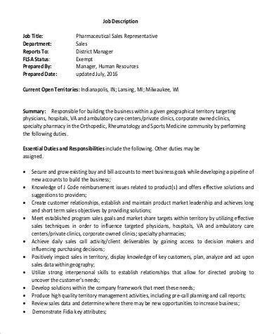 sales rep job description pharmaceutical sales representative job