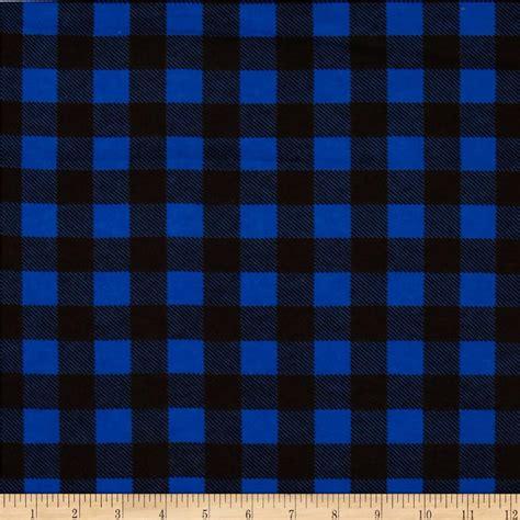 Blue Plaid blue plaid flannel fabric