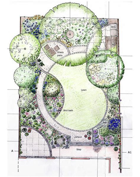 backyard plan flower garden design pictures and layout pdf