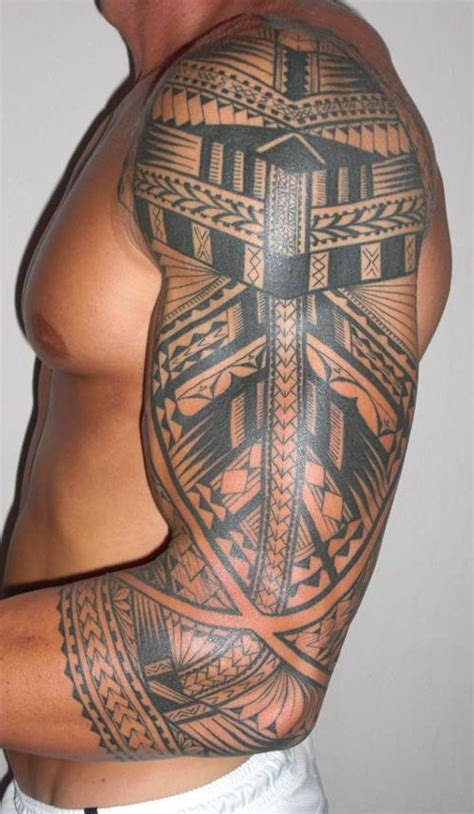 maori sleeve tattoo designs for men