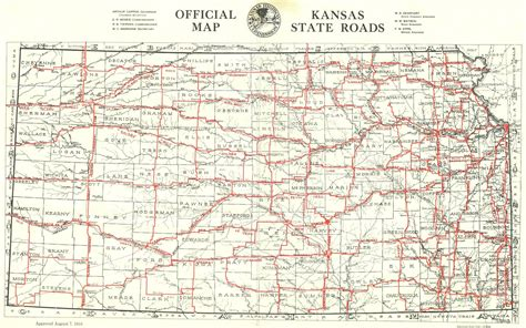 kansas state map image kansas state highway road map
