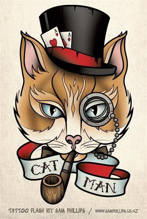 cat tattoo flash cat portrait tattoo cat portrait tattoo sam phillips