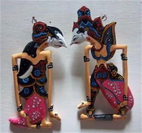 Miniatur Wayang Kulit Punokawan Ukuran S Bagong Semar Gareng Petruk jual wayang kulit kerajinan khas jawa java handicrafts