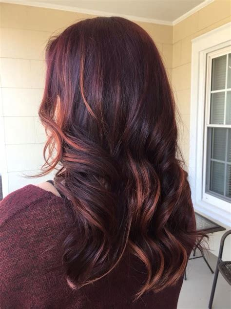 merlot hair color merlot and copper highlights lussohairstudio our
