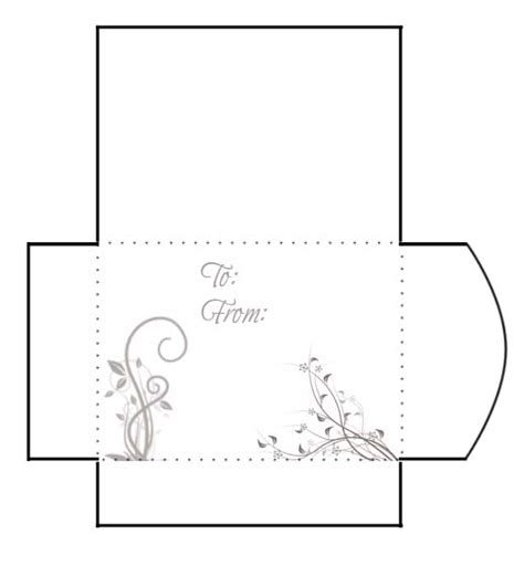 Gift Envelope Template search results for printable gift envelopes free