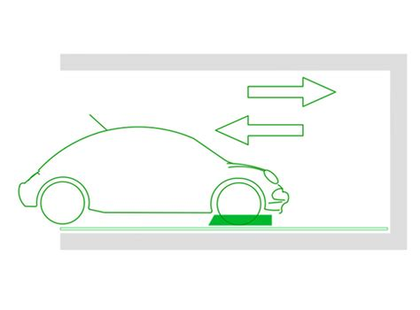 larghezza box auto piattaforma a trazione per auto greenpark srl