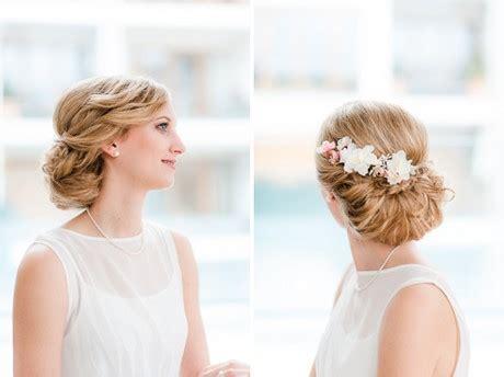Hochzeitsfrisuren Mit Echten Blumen by Brautfrisur Nat 252 Rlich