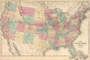 24x36 poster 1875 map of the united states of america