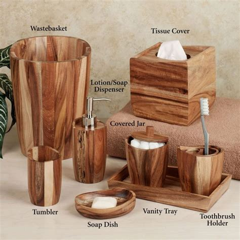 wooden bathroom accessory sets best 25 wooden bathroom accessories ideas on