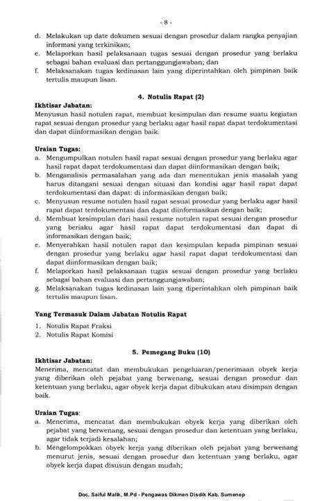 membuat resume rapat perka bkn no 3 thn 2013 kamus jabatan fungsional umum pns