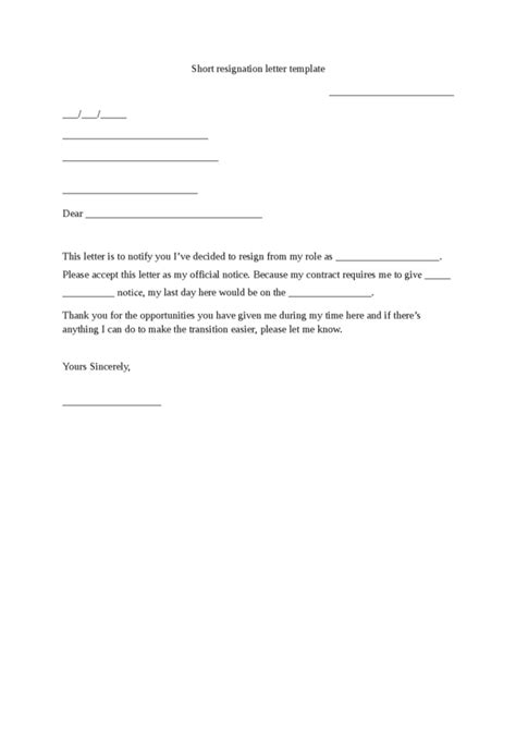 Thank You Letter Upon Resignation Resignation Letter Legalforms Org