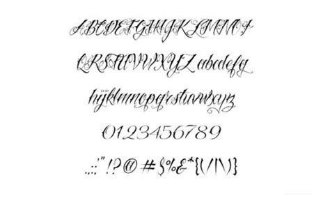 tattoo handwriting fonts generator images