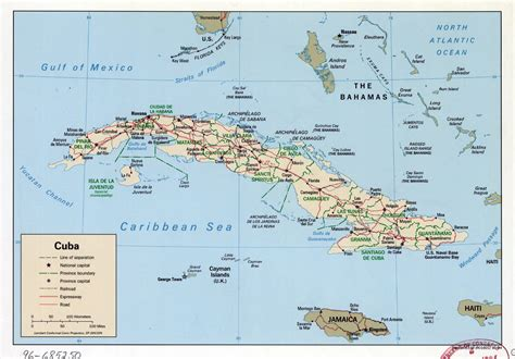 map of cuba cities large detailed political and administrative map of cuba