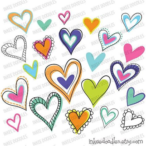free doodle hearts hearts doodles clipart clipart panda free clipart