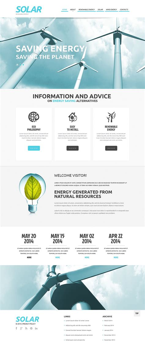 Solar Energy Responsive Website Template 48320 Solar Website Templates