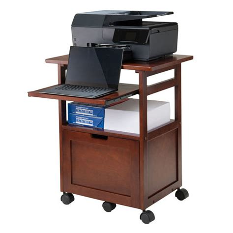 Printer Stand With File Drawer by Piper Portable Work Cart Printer Stand With Pull Out Key