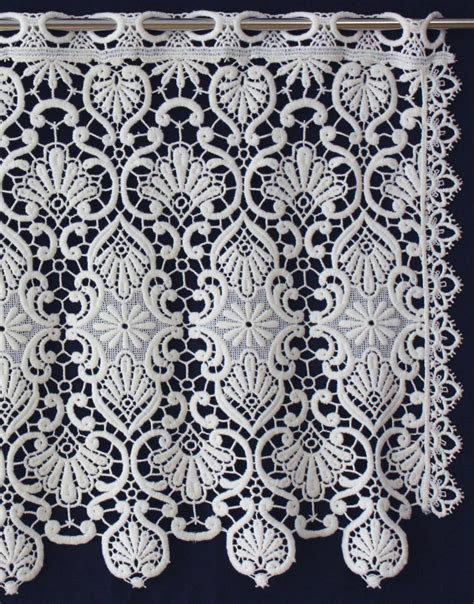 Macrame Lace - tier macrame curtain