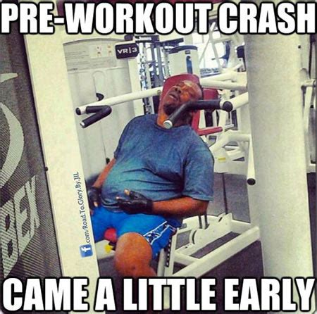 Tired Guy Meme - pre workout crash
