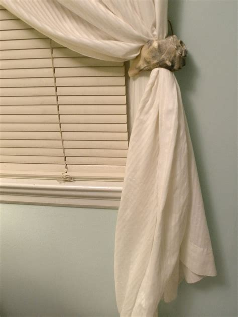 Diy conch shell curtain tie back decorating ideas pinterest