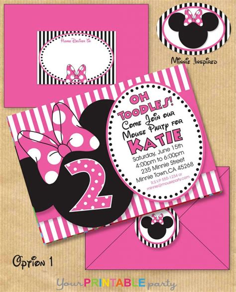minnie mouse birthday invitation templates free 6 best images of minnie mouse printable invitations