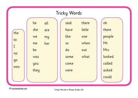 phase 2 word mat tricky word mat phase 2 5 free teaching resources