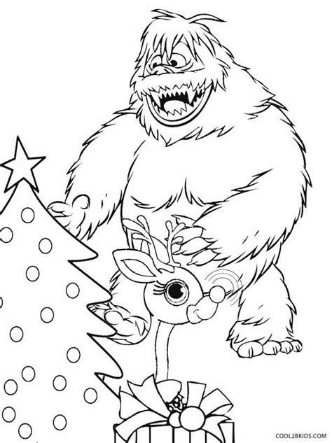 coloring pages abominable snowman printable rudolph coloring pages for kids cool2bkids