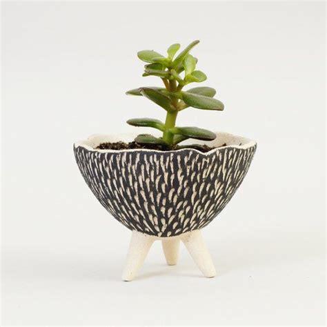modern ceramic pots black and white pottery planter textured ceramics