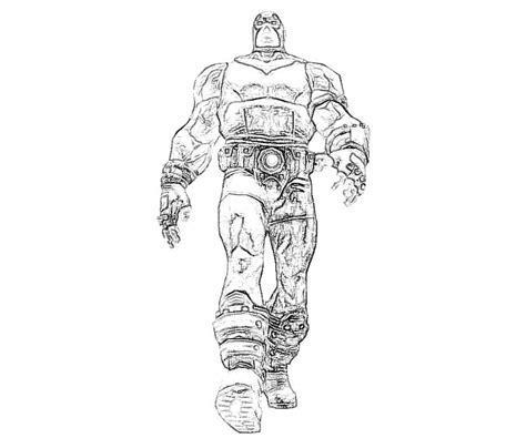 Armored Batman Coloring Pages | batman arkham city bane armor yumiko fujiwara
