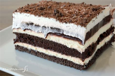 easy chocolate dessert lasagna cherylstyle