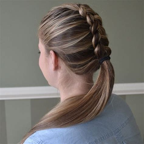 braided conservative up do hairstyle pic braided ponytail ideas 40 cute ponytails
