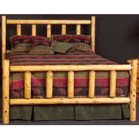 Log Headboards For Beds by Pine Log Collection Northwoods Headboard Log070