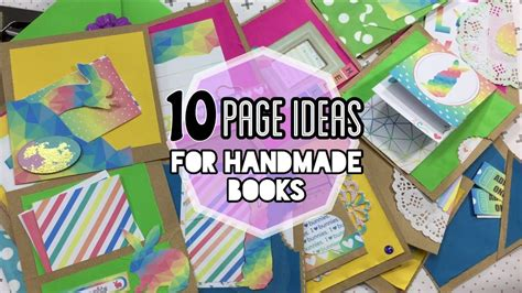 Handmade Books Ideas - 10 page ideas for handmade books ft bun collection
