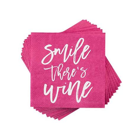 Smile There smile there s wine napkin by cakewalk gifts