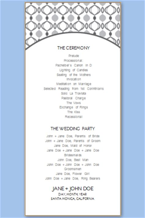 Wedding Program Templates Free Printable Wedding Program Templates Free Event Program Templates
