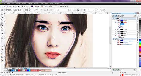 cara edit foto jadi video cara edit foto jadi kartun dengan corel vector portrait