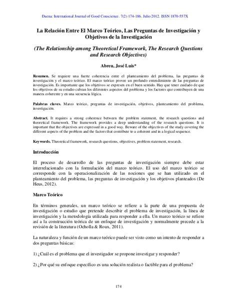preguntas generales de administracion la relaci 243 n entre el marco te 243 rico las preguntas de