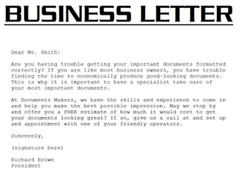 business letter format for 5th grade sle business letter