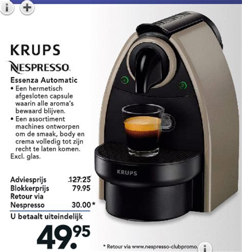 blokker espresso apparaat krups espressoapparaat folder aanbieding bij blokker details