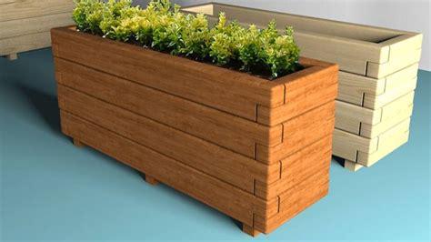 floreros largos de madera jardineras de madera para interior y exterior