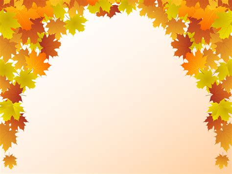 Autumn Leaf Frame Backgrounds Beige Black Border Frames Colors Green Nature Orange Fall Powerpoint Background