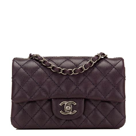 Chanel Flap chanel purple quilted caviar rectangular mini classic flap bag world s best